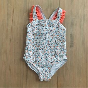 Paul Smith Baby | Floral Ruffle One Piece Swimsuit
